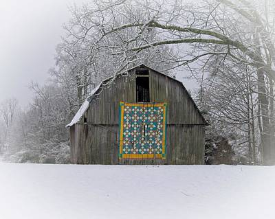 Advertising Archives - Snowy Barn Scene by Douglas Barnett