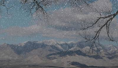 Mixed Media - Snowy Mountains by Bob Pardue