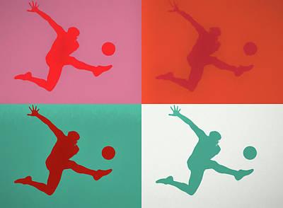 Sports Paintings - Soccer Kick Pop Art by Dan Sproul