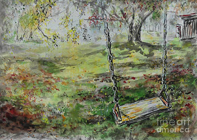 Painting - Socially Distanced Swing by Ryn Shell