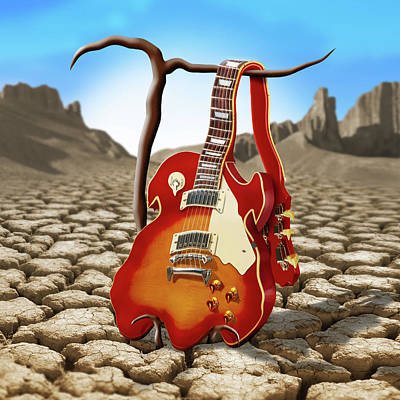 Surrealism Royalty Free Images - Soft Guitar II Royalty-Free Image by Mike McGlothlen