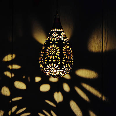 Fruits And Vegetables Still Life - Solar Lantern Patterns After Dark by Gaby Ethington