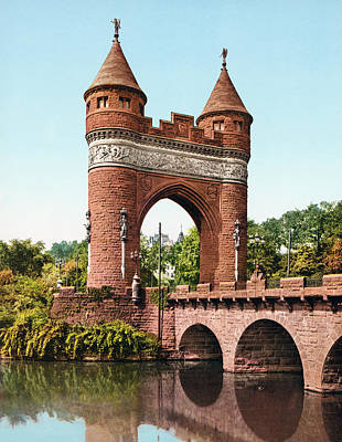 Royalty-Free and Rights-Managed Images - Soldiers and Sailors Memorial Arch - Hartford - Circa 1905 Photochrom by War Is Hell Store