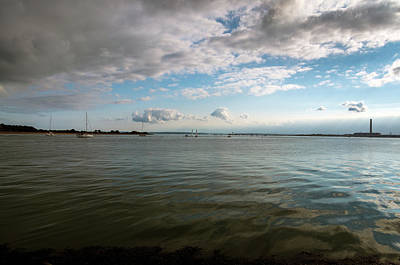 Photograph - Solent Sea Views from Hamble Beach by Lenny Carter