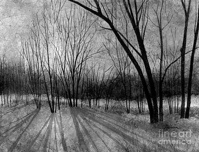 Royalty-Free and Rights-Managed Images - Solstice Shadows in Black and White by Hailey E Herrera