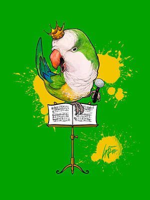 Royalty-Free and Rights-Managed Images - Songbird of Happiness by Canine Caricatures Custom Merchandise