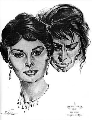 Drawings Royalty Free Images - Sophia Loren by Volpe Royalty-Free Image by Stars on Art