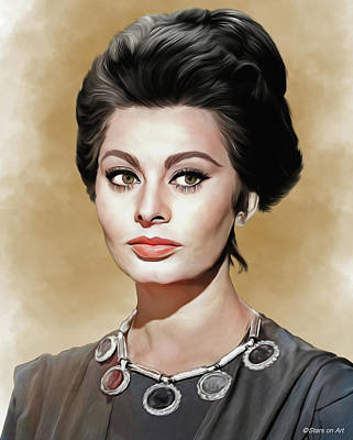 Royalty-Free and Rights-Managed Images - Sophia Loren illustration by Stars on Art