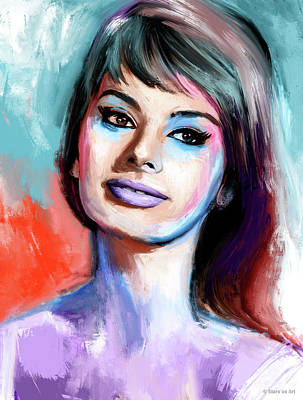 Royalty-Free and Rights-Managed Images - Sophia Loren portrait by Stars on Art