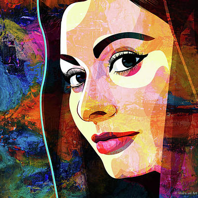 Abstract Oil Paintings Color Pattern And Texture Royalty Free Images - Sophia Loren Royalty-Free Image by Stars on Art