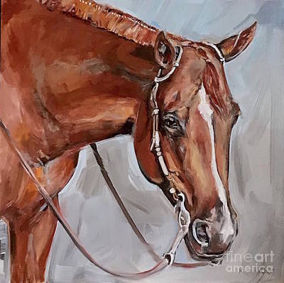 Painting - Sorrel Horse by Maria Reichert