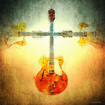 The Rolling Stones Royalty Free Images - Sound of Six Strings Royalty-Free Image by Andrew King