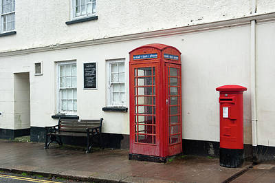 Photograph - South Brent Red Telephone Box Dartmoor by Helen Northcott