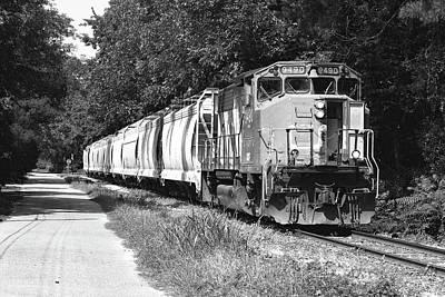 Curated Beach Towels - South Carolina Central Railroad 9490 A B W 2 by Joseph C Hinson