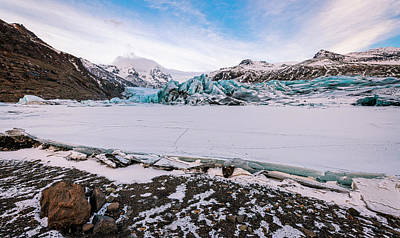 Popstar And Musician Paintings - South Iceland Glacier by Joan Carroll