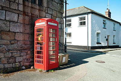 Photograph - South Zeal Red Telephone Box Dartmoor by Helen Northcott