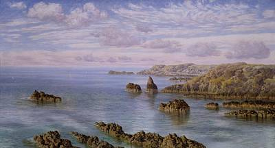 Royalty-Free and Rights-Managed Images - Southern Coast of Guernsey, 1875 By John Brett - brown rock formation on body of water during daytime by Julien