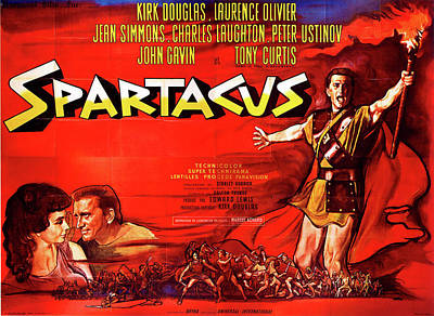 Royalty-Free and Rights-Managed Images - Spartacus movie poster 1960 by Stars on Art