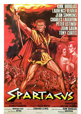 Royalty-Free and Rights-Managed Images - Spartacus, with Kirk Douglas and Jean Simmons, 1960- by Stars on Art