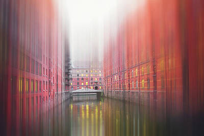 Royalty-Free and Rights-Managed Images - Speicherstadt HafenCity Hamburg Germany Abstract Textured by Carol Japp