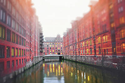 Abstract Water - Speicherstadt HafenCity Hamburg Germany  by Carol Japp