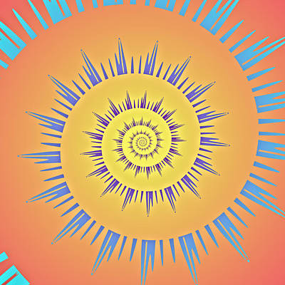 Digital Art - Spiral Sun by Mediamerge - Dan Roitner