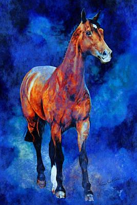 Animals Paintings - Spirit Horse by Hanne Lore Koehler