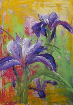 Painting - Spirited Iris by Debbie Robinson
