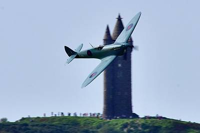 Vintage Signs - Spitfire at Scrabo  by Neil R Finlay