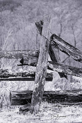Dan Beauvais Royalty-Free and Rights-Managed Images - Split Rail Fence 0583 by Dan Beauvais