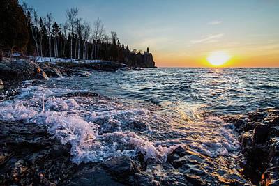 Photograph - Splitrock Sunrise Waves 2 by Joe Miller