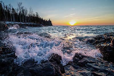 Photograph - Splitrock Sunrise Waves by Joe Miller