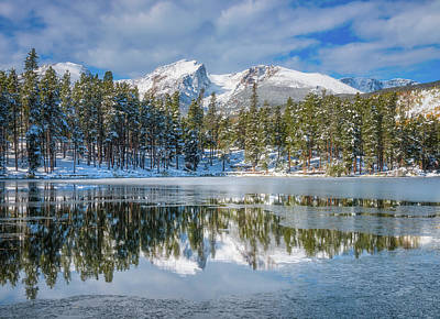 Royalty-Free and Rights-Managed Images - Sprague Lake First Freeze by Darren White