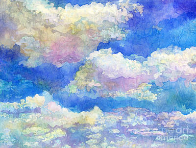 Curated Beach Towels - Spring Day-Fluffy Clouds by Hailey E Herrera