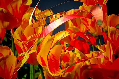 Mixed Media - Spring Fire by Clive Littin