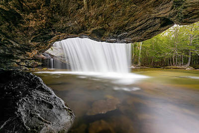 Photograph - Spring Flow over Beede Falls in Sandwich, NH II by William Dickman