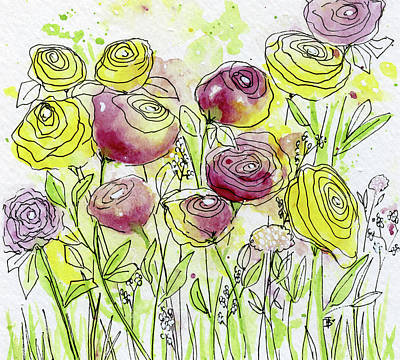 Painting - Spring Flowers 2 by Beth Taylor