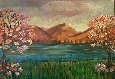 Painting - Spring in the mountains by Laurie Rosenbaum