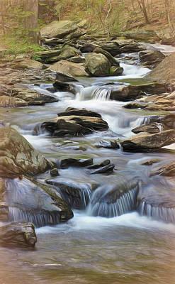 Sara Habecker Folk Print - Spring Rapids by Bearj B Photo Art