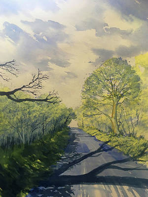 Painting - Spring Shadows on Woldgate by Glenn Marshall