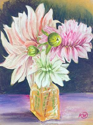 Pastel - Springtime Blooms by Karen Wysopal