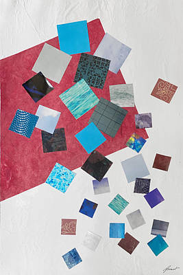 Mixed Media - Square Dances Series No.1 by Jessica Levant