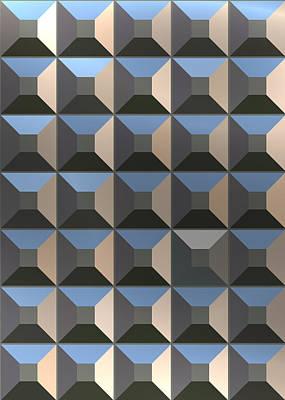 Digital Art - Square Metal by Mediamerge - Dan Roitner