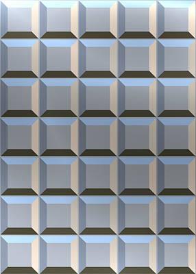 Digital Art - Squares Tiles by Mediamerge - Dan Roitner