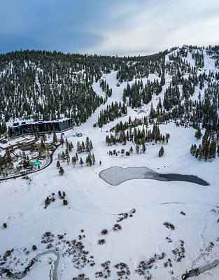 Royalty-Free and Rights-Managed Images - Squaw Valley Meadow Aerial by Brad Scott