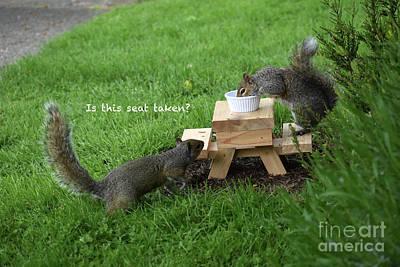 Photograph - Squirrel Picnic Table by Rose De Dan