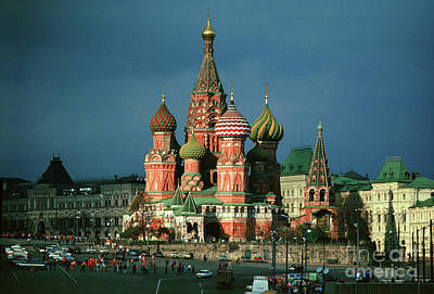 Mans Best Friend - St. Basil Orthodox Church in Red Square Moscow by Wernher Krutein