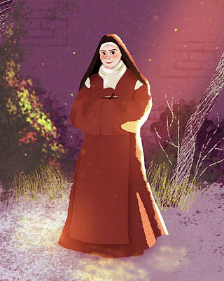 Digital Art - St. Elizabeth of the Trinity by Amy Rodriguez