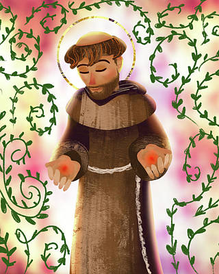 Digital Art - St. Francis by Amy Rodriguez