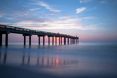 Space Photographs Of The Universe - St Johns County Pier Sunrise by Joe Leone